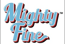 MIGHTY FINE / A trio of entrepreneurs joined forces in 1992 to create Mighty Fine - a Los Angeles based design studio that has grown from a progressive yet underground t-shirt line to an international recognized fashion force and brand innovator. Mighty Fine knit tops embody a carefree, casual California lifestyle by using American images, vintage styles and irreverent graphics. / by LAStyleRush .com