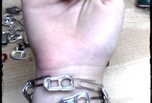 junk to jewelry / bits of junk and office supplies turned into wearable art, easy to make gift for friends or yourself