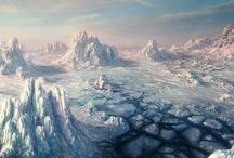 Polar environments and other places fantasy / Ambienti polari e altri luoghi fantasy