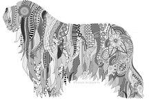 DOG Art  Dog drawing / Digital Dog drawing, Adobe Illustrator, Digital art