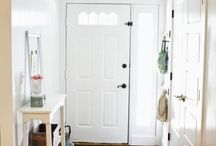 Entry ways with color and textures and patterns and patchwork. / Inviting entry ways with colors and textures and patterns and patchwork.