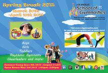 New events at The Los Angeles School of Gymnastics / 2015 events for the Los Angeles School of Gymnastics!