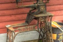 Eski dikiş makineleri