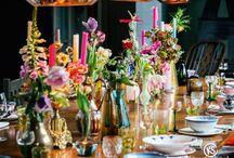 ACCESSOIRES_feestelijk gedekte tafels / Wat is er gezelliger dan samen koken en eten? Eten en drinken aan feestelijk gedekte tafels !