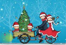 Getekende kerstkaarten