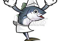 Vector Tuna Character / Boians Vector Tuna Fish Character Design Series.