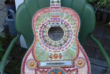 guitare et mosaïque