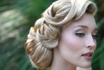 Emily's wedding hair