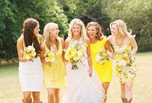 Yellow & White Wedding / by The American Wedding