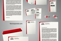 Stationery vector templates / Free Illustrator templates for stationery elements.