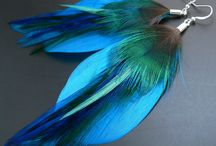 feather jewelry / feathers, colours, ideas....