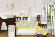 Yellow and Grey baby room