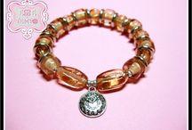 My creations: pearls / Creazioni uniche realizzate con perline, charms di orologi e sveglie