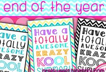 End of the Year / End of the school year graduation, activity, and gift ideas! Graduation and end of year printables.