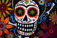 """""""Día de Muertos"""" / Calacas, calaveritas, catrinas, cempōhuazōchitl México"""