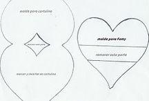 Moldes / Moldes para diferentes tarjetas y manualidades