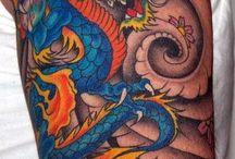 Dragon arm tattoo