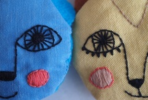 Face embroidering by hand