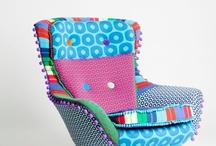 Färgglad stol