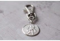 Saint Christopher Key Charm / Engraved Saint Christopher Key Charm.