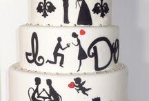 wedding cake - with illustration