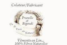 Vêtements Lin Prunelle et Bigoudi