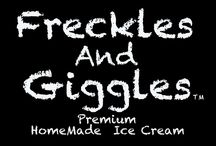Freckles And Giggles HomeMade Ice Cream / This is our ice cream business. we make everything thing fresh from the milk to the end using only fresh ingredients. from the farm to us to you! / by Ricki Ford Photographers