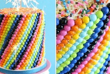 Party Ideas - Rainbow / Colorful ideas for party decor with a rainbow scheme.