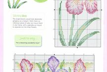 Fiori fleurs flowers / Schemi punto croce point de croix cross stitch