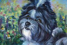 Shih Tzu dog Art by Lyn Hamer Cook