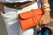 Love Orange / Orange jewelry, orange accessories, orange outfit,