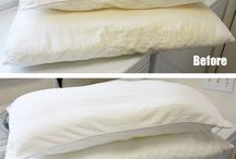 how to make a pillow become white again