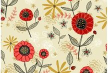 Lady Bug Blooms Designed By Anne Bollman / Designer fabric@ discoverfabric.com