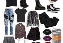 Cool Outfits /goth/punk/grunge/hippie/
