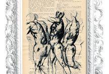 """LA PETITE ILLUSTRATION / La Petite Illustration es un sello que nace con la intención de desarrollar obra gráfica sobre papel reciclado. Su nombre nace de la enciclopedia francesa de la ilustración de los años 1930 con la que se inicia este sello creativo.  La primera colección que se presenta es la serie """"Grafito"""" dibujos basados en obras clásicas del renacimiento que originalmente se realizaron en grafito y lápiz color sobre tabla preparada realizados por el artista plástico Miguel Angel Aranda."""