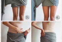vestidos con una tela
