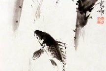 동양화-물고기 등