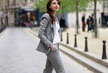 LES TAILLEURS / Fashion chic à la française ideas for your daily work outfits. Focus on Suits for women.
