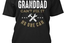 GRANDDAD TEES / Gift ideas for Granddad! Tees, Hoodies and Long-sleeves available in the style and color of your choice! By Cido Lopez