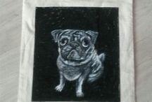 moje tvoreni / handmade#platenka#pug#cat#panda#totoro