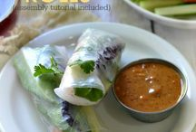 Sushi ideas / Rice paper rolls