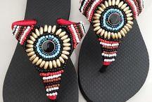 chinelas decoradas