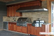 Outdoor Kitchen Countertops / Breaking away from routine, spending time with family, cooking on the outdoor kitchen countertop, and dining is an unforgettable experience. Not everyone will have this advantage as most homes do not have an outdoor kitchen. If you are thinking of installing one for your home, here are some ideas to understand how to go for it