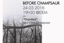 """Exhibition """"Unfolded"""" by Clara Champsaur @IDEM. / Le premier solo de Clara Champsaur organisé par Early-Work.com au sien du mythique atelier de lithographie Idem à paris."""