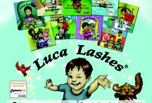 FREE Luca Lashes Materials / This is a place where our dentists, hair stylists, life-life specialists, pediatricians, nursing homes, aquatic centers, etc. can download materials that we previously had distributed to them along the Luca Lashes Road Tour!