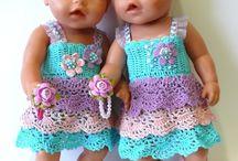 Crochet/knitting poppen kleertjes
