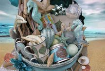 Gift baskets / Beach theme  / by Cathy Branin