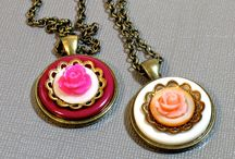 Upcycled Button Pendant Necklaces / Handmade repurposed upcycled button necklace pendants by BluKatDesign on Etsy / by BluKatDesign