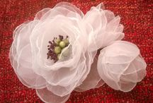 Organza flowers / Flowers, self made.