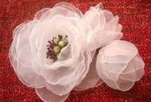 Organza flowers / Flowers, self made.
